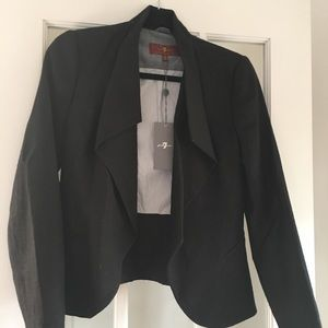 7 for all man kind women's blazer nwt